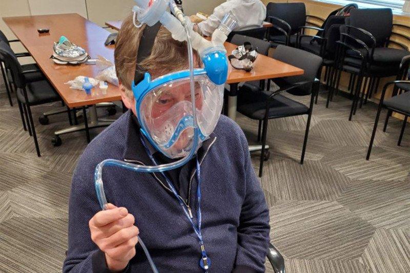 Modified Snorkel Mask