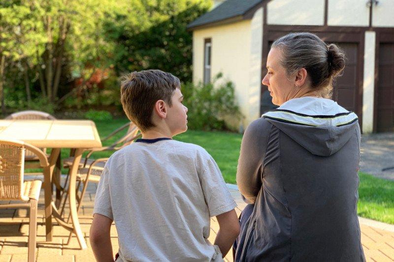 Разговор матери с сыном