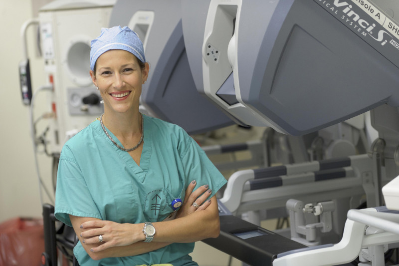 Gynecologic surgeon Elizabeth Jewell