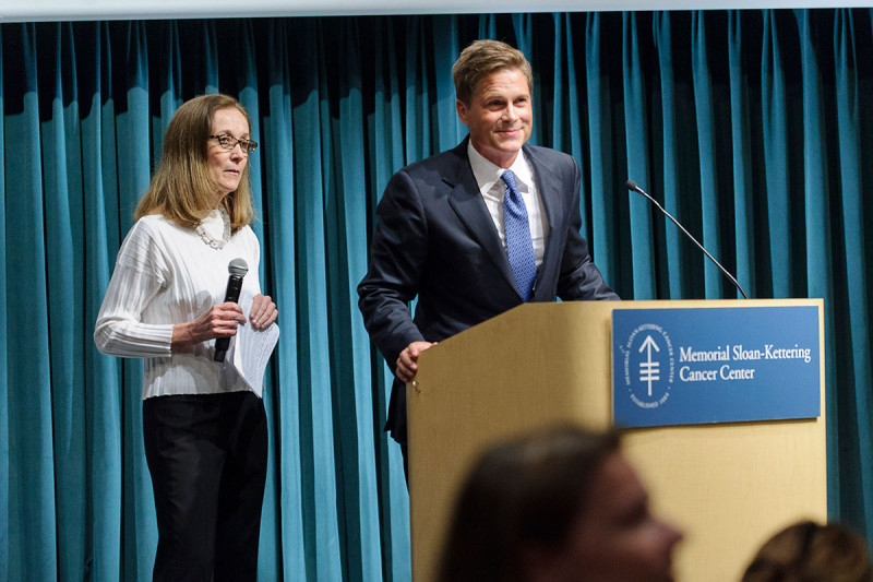 Pictured: Mary McCabe & Rob Lowe