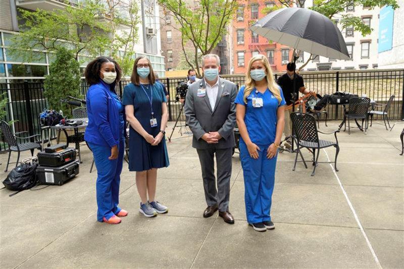 Nurse Andrea Ogbonna, Chief Nursing Officer Elizabeth McCormick, Deputy Chief Nursing Officer Kevin Browne, and Nurse Valarie Lucas