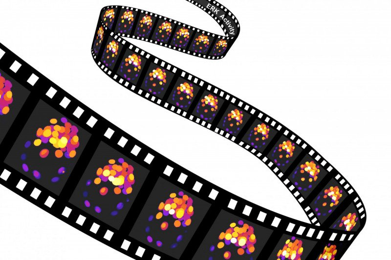 An illustration of a reel of film