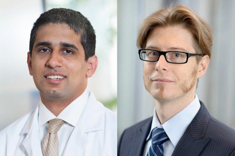 Nadeem Riaz (left) and Jorge Reis-Filho (right)