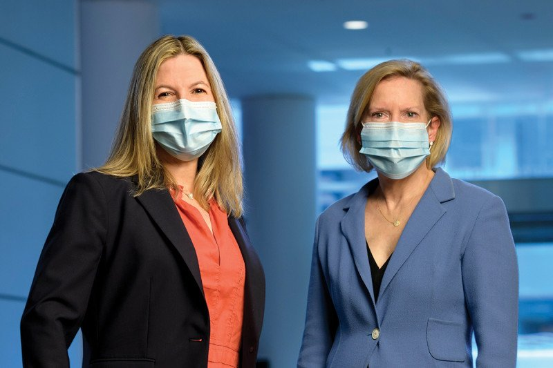 Memorial Sloan Kettering Patient and Family Advisory Council for Quality members Eliza Weber and Kate Niehaus.