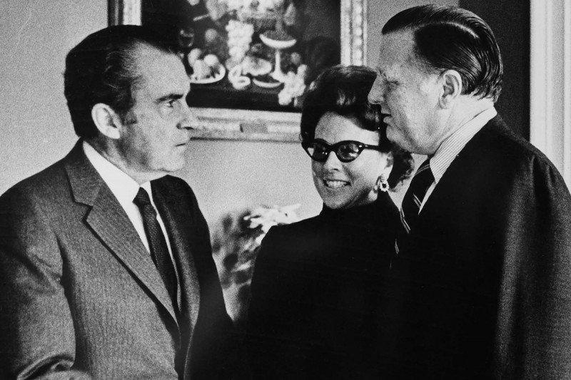 Richard Nixon with Benno and Nancy Schmidt