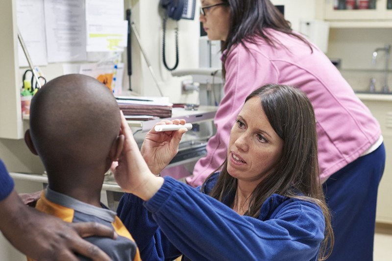 Patient is examined at MSK Kids