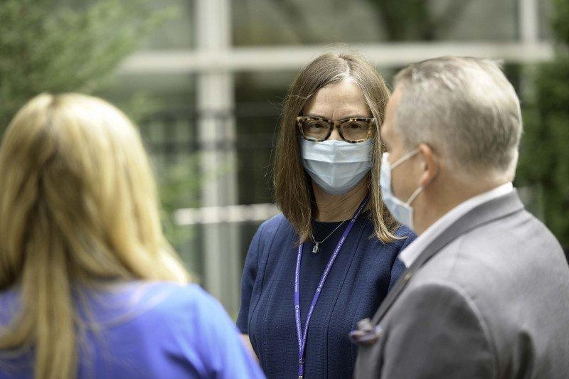 Elizabeth McCormick with her nursing staff.