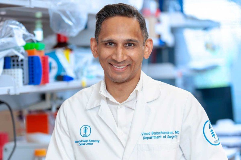 MSK physician-scientist Vinod Balachandran.