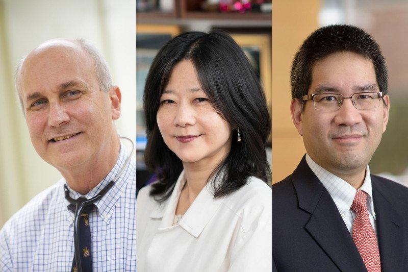 MSK's David Pfister, Nancy Lee, and Richard Wong