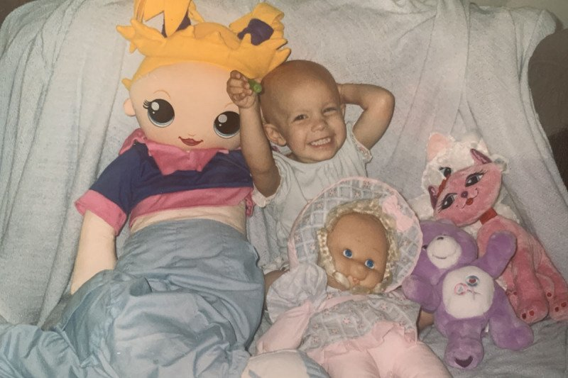Memorial Sloan Kettering neuroblastoma patient Abby Hawk