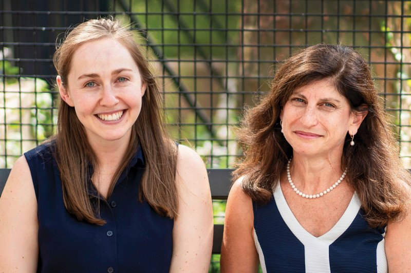 Julia Glade Bender and her niece Emily