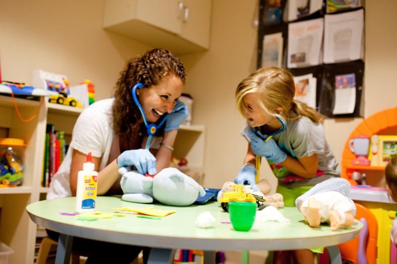 Child life specialist Alyson Silver