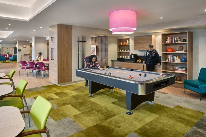 You can play pool and other games while you're here.