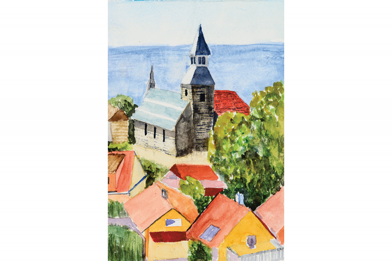 """Denmark"" by Jacquelyn Krogh, watercolor on paper"