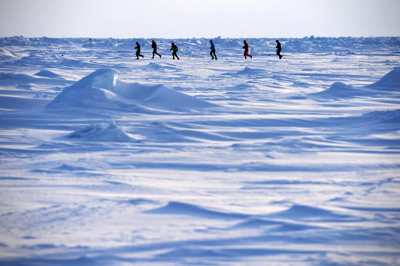 Pictured: North Pole Marathon