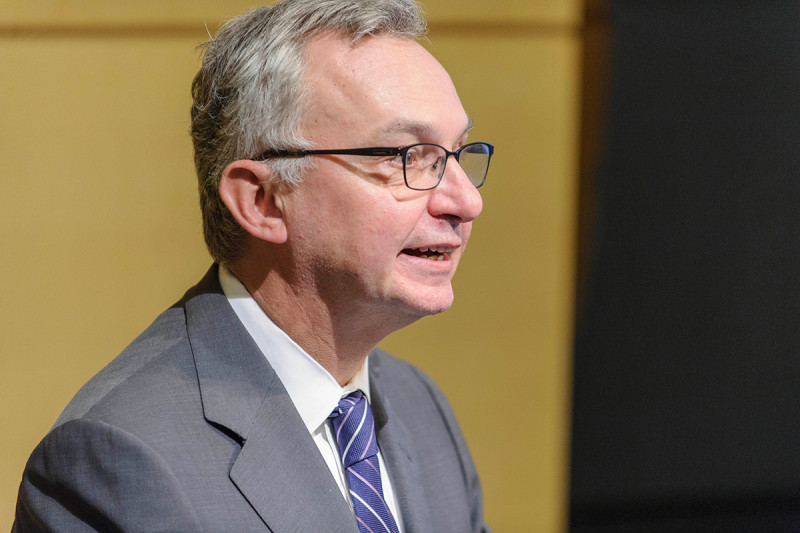 Physician-in-Chief José Baselga gives opening remarks at the  event.