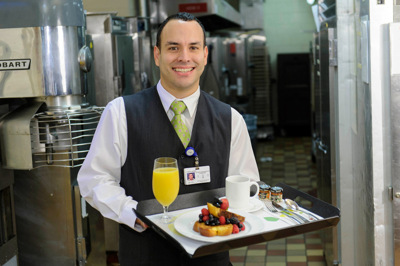 Room service associate Boris Porto