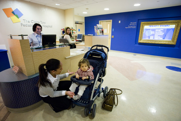 Patients are greeted throughout the day by members of our clinical care team.