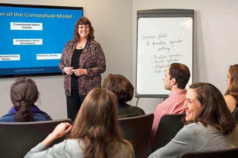 Comskil Director, Patricia A. Parker teaching a class