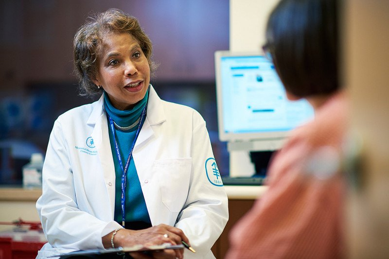 Medical oncologist Diana Lake studies hormonal therapies.
