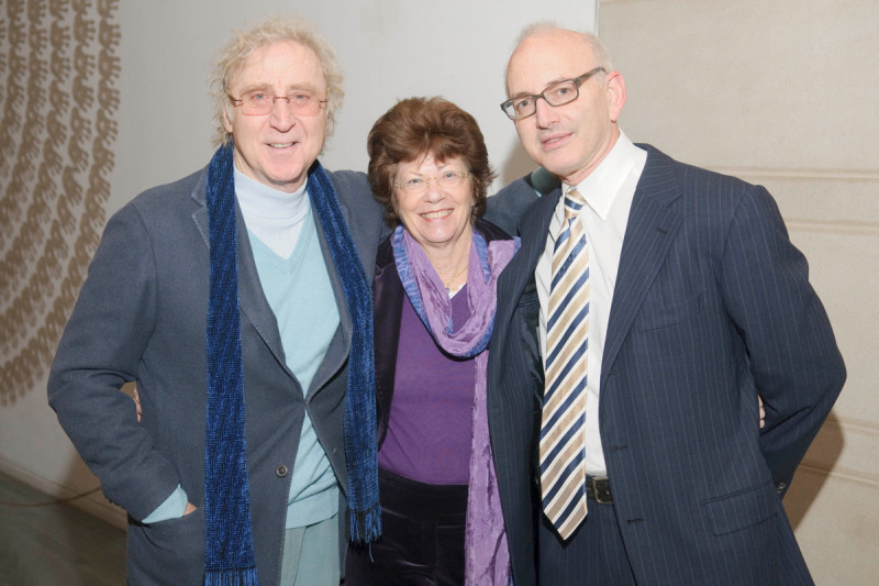 Actor and Memorial Sloan Kettering transplant survivor Gene Wilder with his wife Karen Wilder and Stephen Nimer, Chief of the Hematology Service