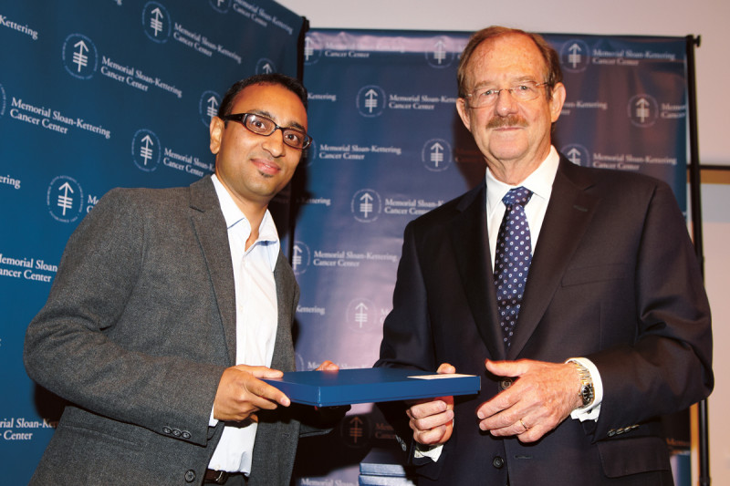 Postdoctoral Research Award winner Agnidipta Ghosh (left) with SKI Director Thomas Kelly