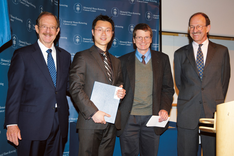 PhD recipient Ting Jia (left) with faculty mentor Eric Pamer