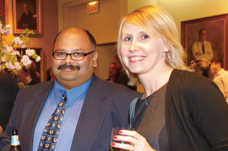 Faculty mentor Prasad Jallepalli with PhD recipient Catherine Randall