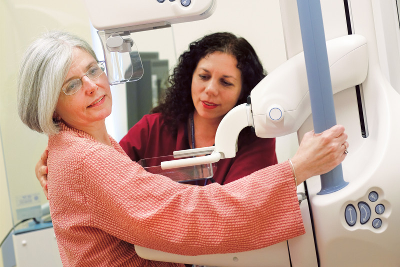 Nine digital mammography units allow breast center staff to screen approximately 85 patients a day.