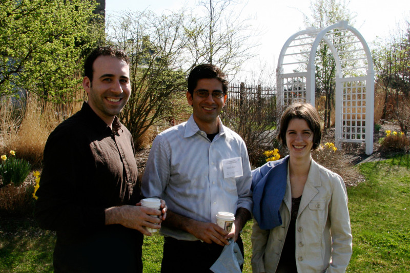 Recreation time -- (from left) Phillip Iaquinta, Vivek Arora, Sara Kubek