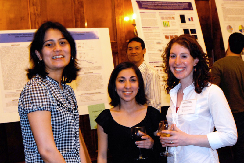 Poster session - (from left) Neha Bhagwat, Berenice Ortiz, and Moriah Nissan