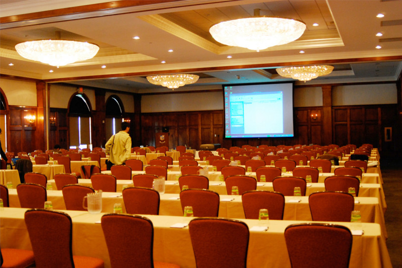 A view of the Evergreen Ballroom