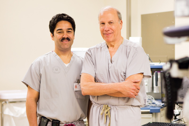 Hans Gerdes (left) and Robert Kurtz will use the most modern endoscopic technology available to do collaborative procedures with their surgical and radiology colleagues.