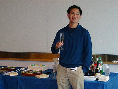 Derek Tan toast Renato Bauer, diversity oriented synthesis, rational drug design, and chemical biology research