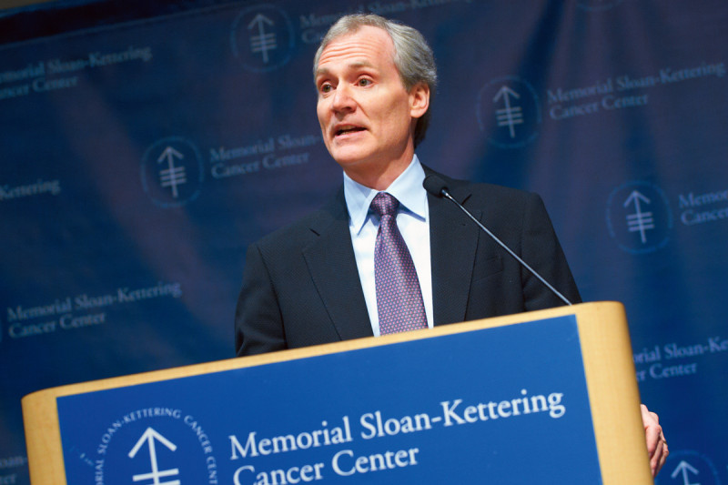 Marc Tessier-Lavigne, President of The Rockefeller University presenting the keynote address.