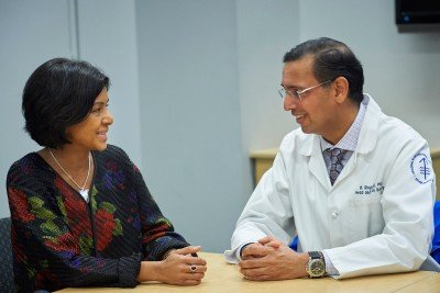 Dermatologist Kishwer Nehal (left) and surgeon Bhuvanesh Singh
