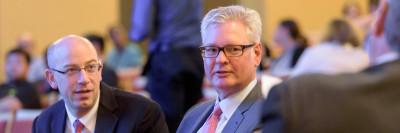 Charles Rudin and David Jones, leaders of the Druckenmiller Center