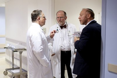 MSK pediatric surgeon Michael La Quaglia talks with sarcoma experts Paul Meyers and Leonard Wexler.