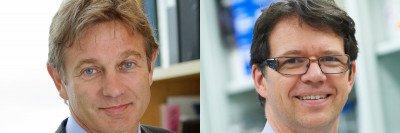 Physician-scientists Marcel van den Brink and Michel Sadelain