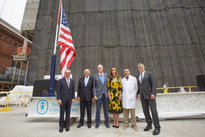 MSK Leadership attend the Topping Off of The David H. Koch Center for Cancer Care