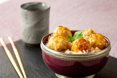 Thai Turkey Meatballs with Coconut Rice