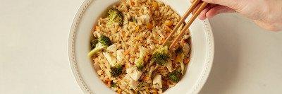 Brown Rice Stir Fry with Chicken