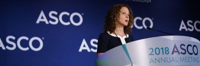 Zsofia Stadler presents at the ASCO meeting