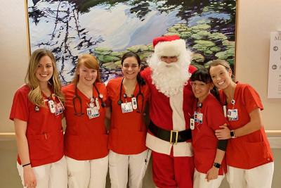 Vinny as Santa with MSK nurses