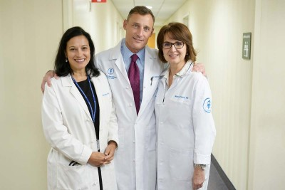 Physician assistant Meredith Riffle, colorectal surgeon Martin Weiser, and nurse Nancy Evans