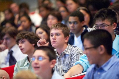 Hundreds of high school students and teachers from the New York City area attend the annual seminar.