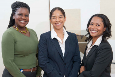 (From left) Nicola Buchanan, Carol Brown, and Melanie Steele
