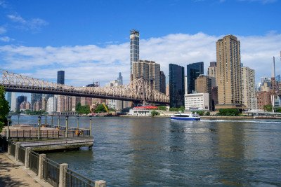 View of Manhattan from the East River
