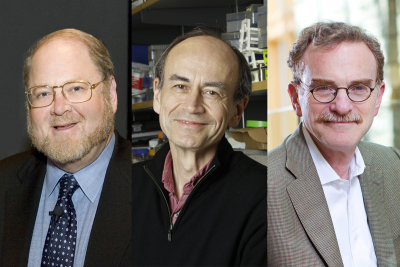 Pictured: James E. Rothman, Thomas C. Südhof & Randy W. Schekman