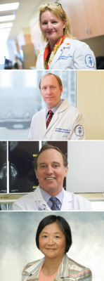 Dr. David D. Dershaw, Director of Breast Imaging; Dr. Christopher Comstock, Training Program Director; Dr. Elizabeth Morris, Director, Breast MRI and Breast Imaging Research; Dr. Carol H. Lee